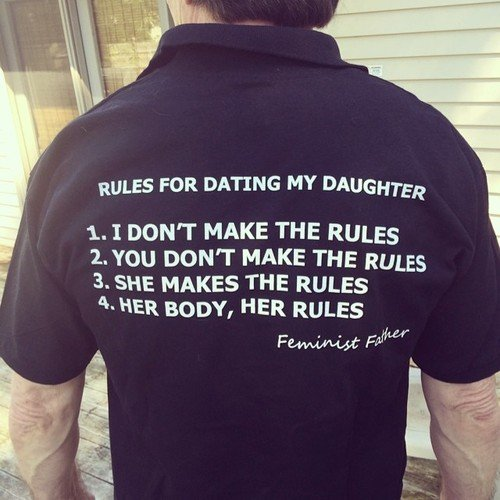 feminist father tshirt