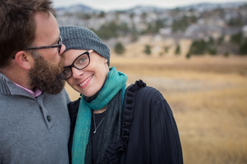 Kara Tippetts with her husband, Jason. (Photo via Tippetts' Blog, Mundane Faithfulness)